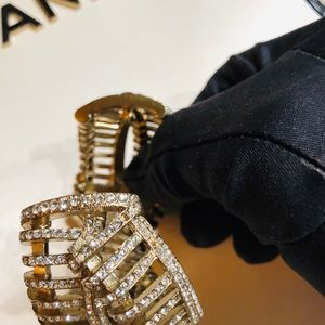 CHANEL Jewelry - Chanel crystal double cuff
